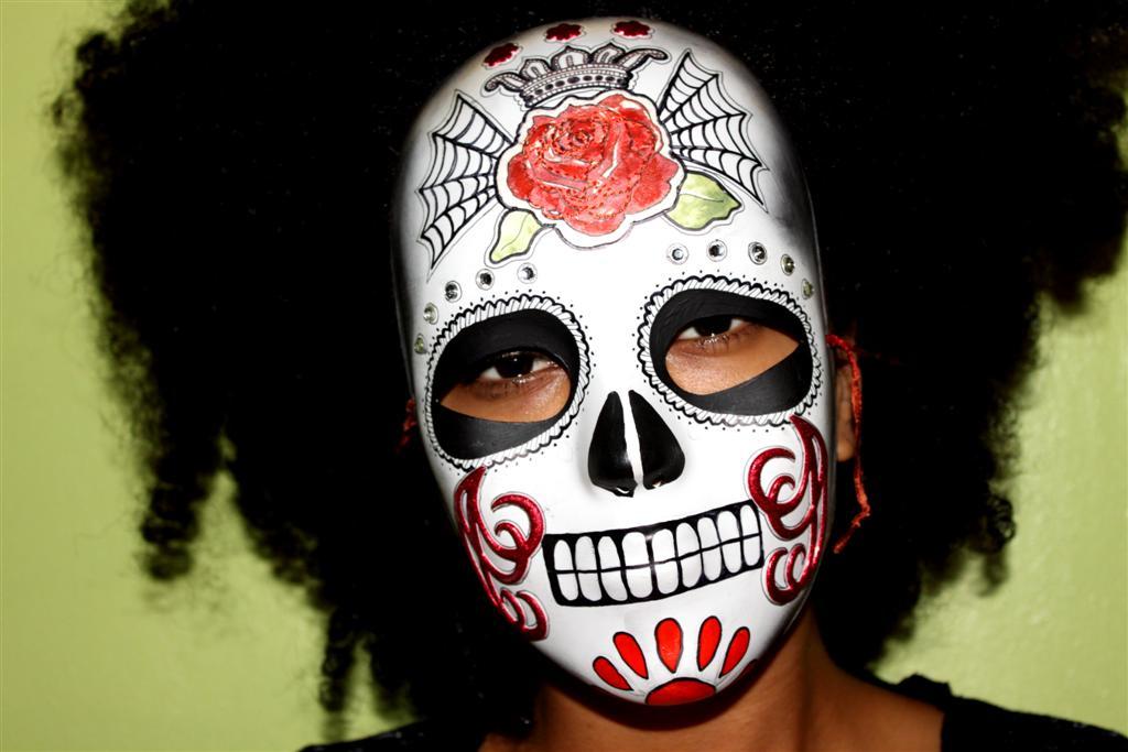 Shannon Clyne Art 13 Days Of Halloween Dia De Los Muertos Mask